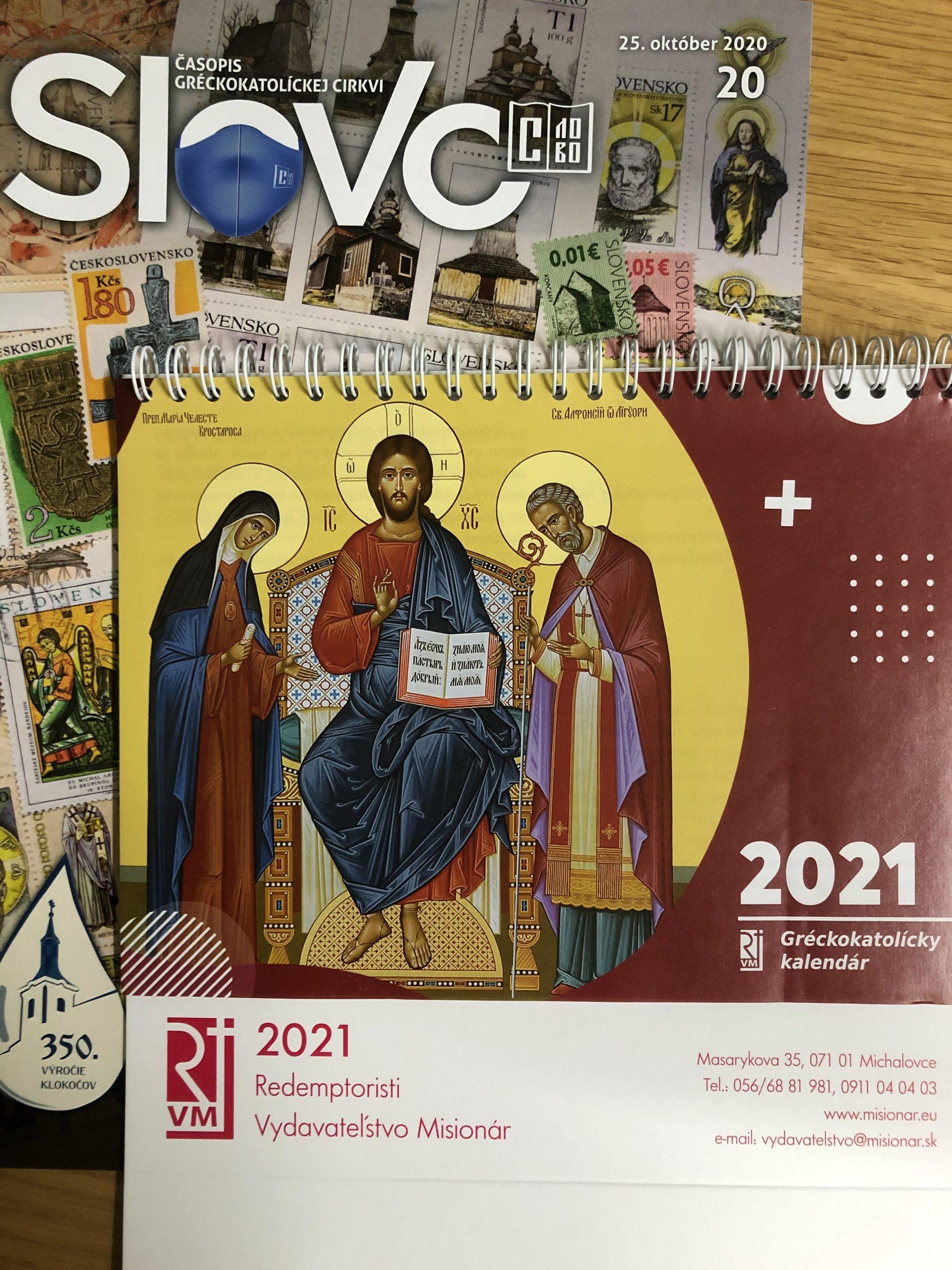 Nástolný kalendár na rok 2021 a nové číslo Slova….